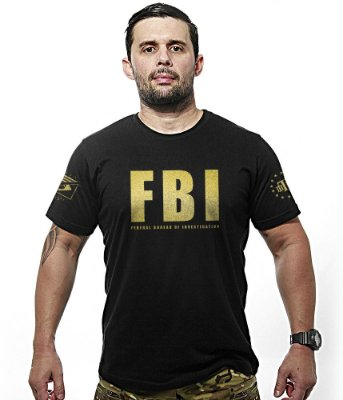 Camiseta FBI Federal Bureal Of Investigation Gold Line