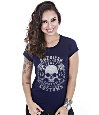 Camiseta Old Cars Baby Look Feminina American Customs