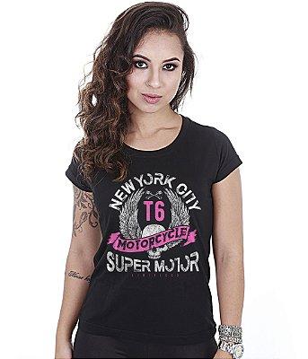 Camiseta Motorcycle Baby Look Feminina Super Motor
