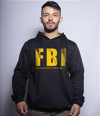 Casaco Militar Com Capuz FBI