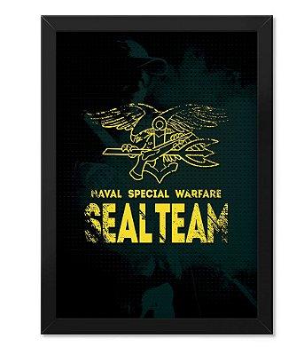 Poster Militar com Moldura Seal Team