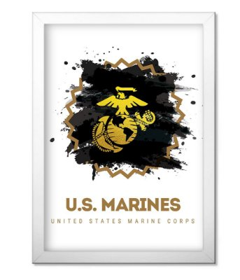 Poster Militar com Moldura US Marines