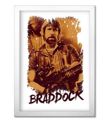 Poster Militar com Moldura Braddock