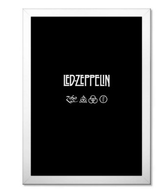 Poster com Moldura Led Zeppeling II
