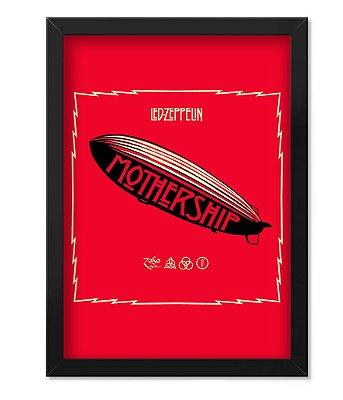 Poster com Moldura Led Zeppeling Mothership