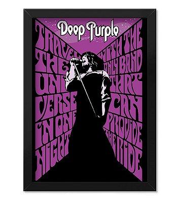 Poster com Moldura Deep Purple