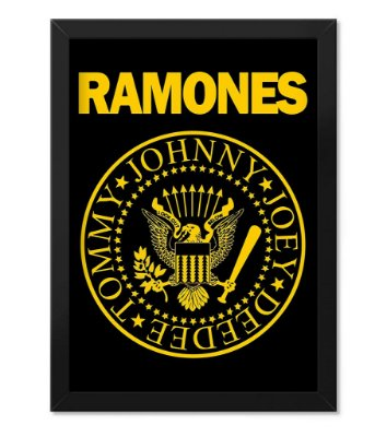 Poster com Moldura Banda Ramones