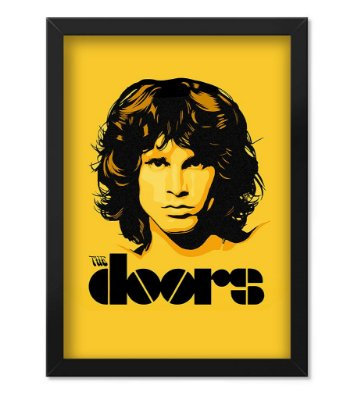 Poster com Moldura Banda The Doors