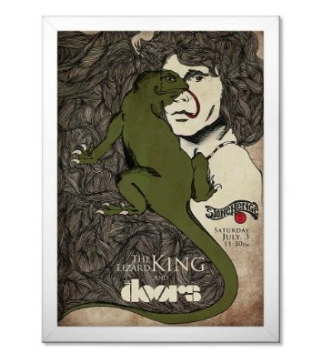 Poster com Moldura The Doors