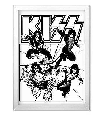 Poster com Moldura Kiss