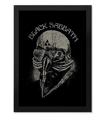 Poster com Moldura Black Sabbath