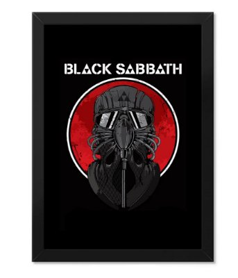 Poster com Moldura Rock Black Sabbath