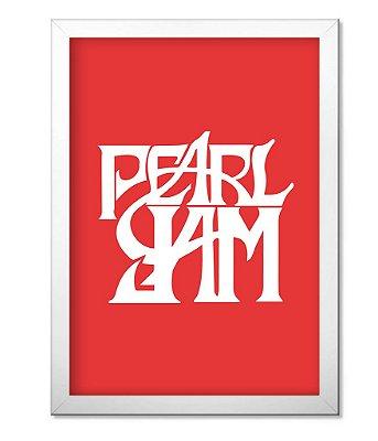 Poster com Moldura Banda Pearl Jam