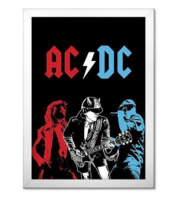 Poster com Moldura ACDC
