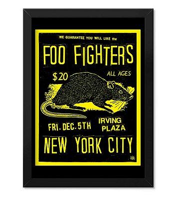 Poster com Moldura Banda Foo Fighters