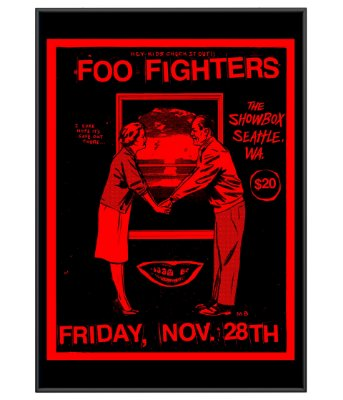 Poster Minimalista Rock Foo Fighters