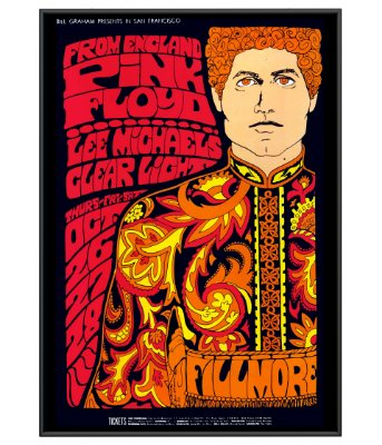 Poster Rock Minimalista Pink Floyd