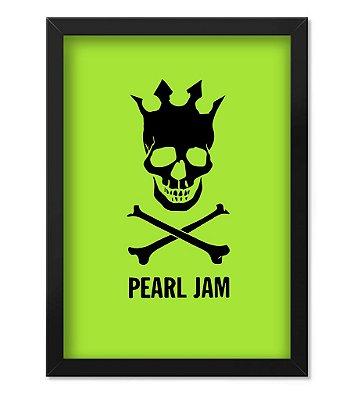 Poster com Moldura Pearl Jam Green
