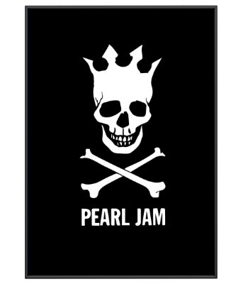 Poster minimalista Pearl Jam Black