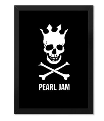 Poster com Moldura Pearl Jam Black