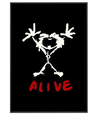 Poster minimalista Pearl Jam Alive
