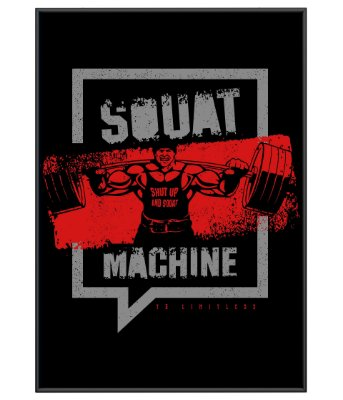 Poster Academia Squat Machine