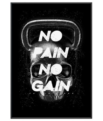 Poster Academia Skull No Pain No Gain