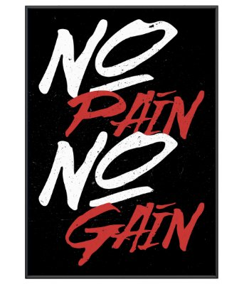 Poster Academia No Pain No Gain Simple