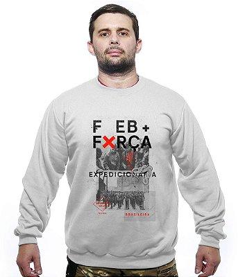 Casaco Básico de Moletom FEB Força Expedicionária Brasileira