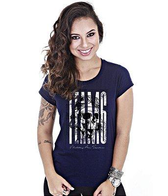Camiseta Militar Baby Look Feminina Kamikaze
