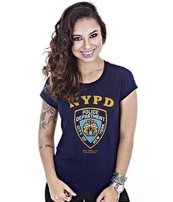 Camiseta Militar Baby Look Feminina NYPD