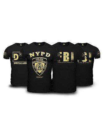Kit The Police 4 Camisetas Militares