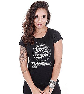 Camiseta Baby Look Feminina Banda de Rock Whitesnake