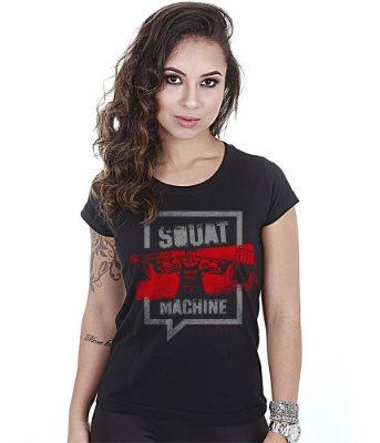 Camiseta Academia Baby Look Feminina Squat Machine