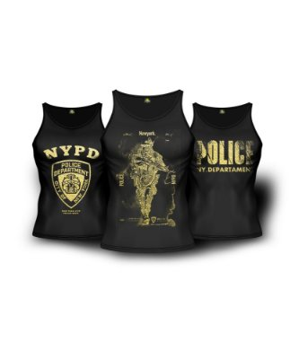 Kit 3 Regatas Militares NYPD