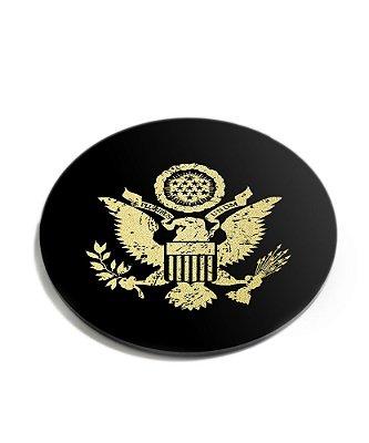 Porta Copos Militar Águia Defense Gold Acrílico