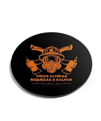 Porta Copos Militar Bombeiros Vidas Alheias Acrílico