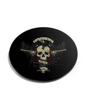 Porta Copos Guns Skull Roses Acrílico