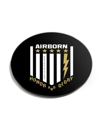 Porta Copos Militar Airborn Acrílico