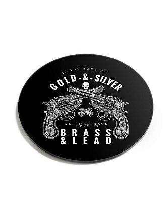 Porta Copos Militar Gold & Silver Acrílico