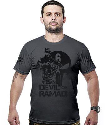 Camiseta Militar Devil Of Ramadi Hurricane Line
