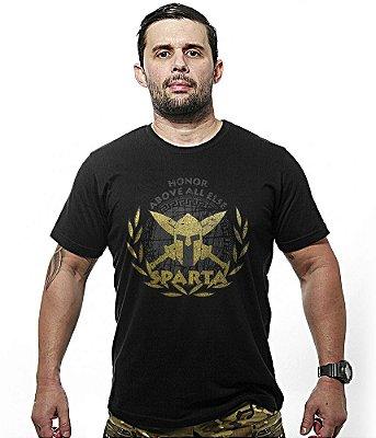Camiseta Militar Molon Labe Estampa Dourada