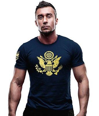 Camiseta Militar Eagle Justice United States Gold Line