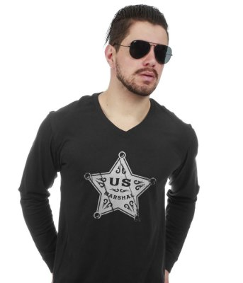 Camiseta Militar Manga Longa US Marchal