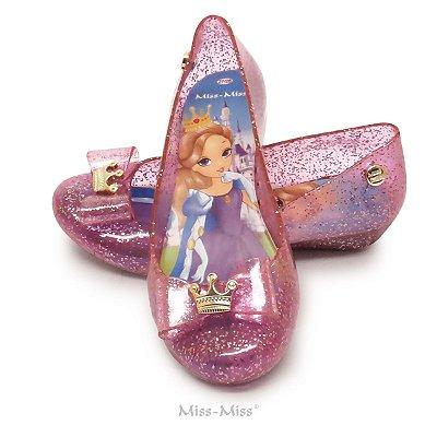 Sapatilha Infantil Princess - Rosa Gliter
