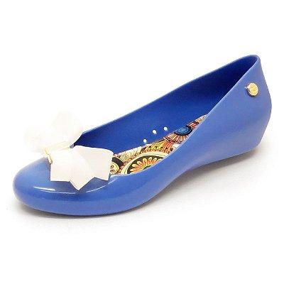 Sapatilha Miss-Miss Laço Mota - Azul