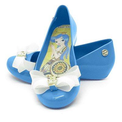 Sapatilha Infantil Laço Mota- Azul Denin