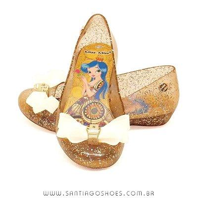 Sapatilha Infantil Princess Kids 2017 - Ouro Gliter