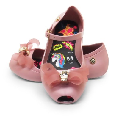 Sapatilha Peep Toe Little Queen 2017