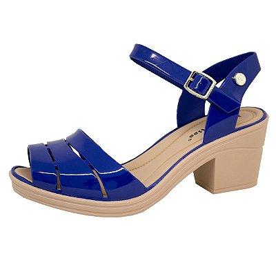Sandália Energy Fashion Salto Bloco 135 | Azul